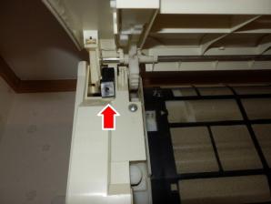 カバー左側支柱