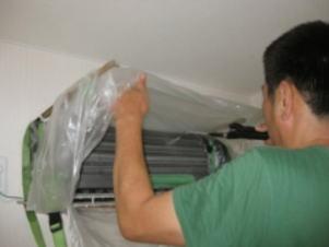 放熱板高圧洗浄