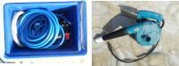 高圧洗浄機とブロアー
