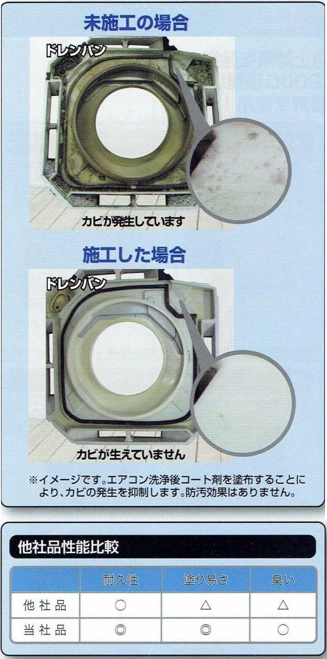 防カビ抗菌コートメーカー配布パンフのバナー