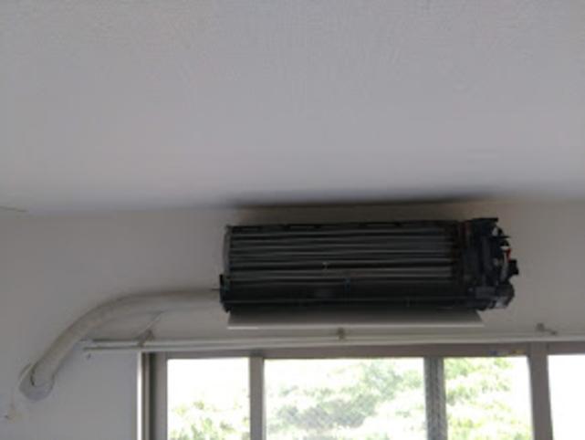 天井までの空間がないが、施工できた例