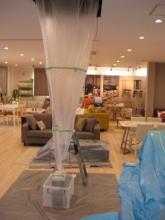 天井カセット4方向 業務用エアコンクリーニング洗浄風景