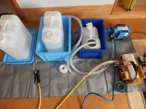 2台の高圧洗浄機